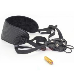 Strap on harness with bullet vibrator